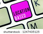 handwriting text location based.... | Shutterstock . vector #1247435125