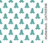 green line fir trees  on white... | Shutterstock .eps vector #1247435548