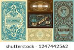 set of 5 vintage labels. vector ... | Shutterstock .eps vector #1247442562