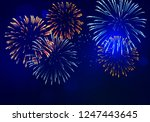 brightly colorful fireworks... | Shutterstock .eps vector #1247443645