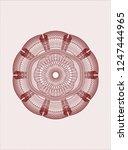 red abstract linear rosette   Shutterstock .eps vector #1247444965