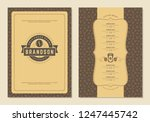 coffee menu design brochure... | Shutterstock .eps vector #1247445742
