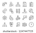 set of job search icons  such... | Shutterstock .eps vector #1247447725