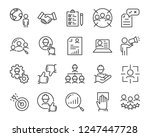 set of job search icons  such... | Shutterstock .eps vector #1247447728