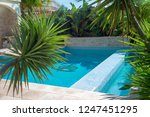 beautiful swimming pool in a... | Shutterstock . vector #1247451295