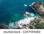 rocky coast of spain catalonia | Shutterstock . vector #1247454682