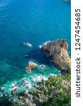 rocky coast of spain catalonia | Shutterstock . vector #1247454685