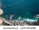 rocky coast of spain catalonia | Shutterstock . vector #1247454688
