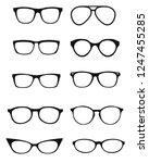 a set of glasses isolated.... | Shutterstock .eps vector #1247455285