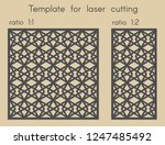 template for laser cutting.... | Shutterstock .eps vector #1247485492