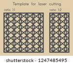 template for laser cutting.... | Shutterstock .eps vector #1247485495