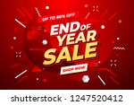 End Of Year Sale Banner. Sale...