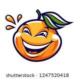 funny smiling mandarin vector... | Shutterstock .eps vector #1247520418