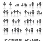 traditional and lgbt family... | Shutterstock .eps vector #124752052