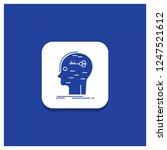blue round button for brain ...   Shutterstock .eps vector #1247521612