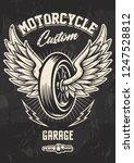 vintage biker design with... | Shutterstock .eps vector #1247528812