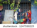 garbage and rags or tatter with ... | Shutterstock . vector #1247530225