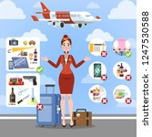 airplane rules for the safety... | Shutterstock .eps vector #1247530588