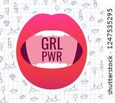 grl pwr  girl power . female... | Shutterstock .eps vector #1247535295