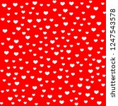 hearts pattern  white heart... | Shutterstock .eps vector #1247543578