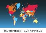 color world map vector | Shutterstock .eps vector #1247544628
