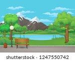 summer  spring day park vector... | Shutterstock .eps vector #1247550742
