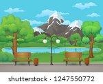 summer  spring day park scene.... | Shutterstock .eps vector #1247550772