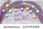 merry christmas and happy new... | Shutterstock .eps vector #1247552005