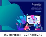 concept landing page template... | Shutterstock .eps vector #1247555242