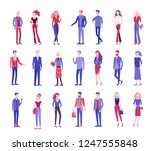 detailed character business men ... | Shutterstock .eps vector #1247555848