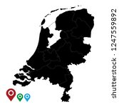 map of netherlands  high... | Shutterstock .eps vector #1247559892