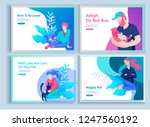 set of landing page templates... | Shutterstock .eps vector #1247560192