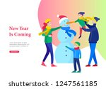 landing page template greeting... | Shutterstock .eps vector #1247561185