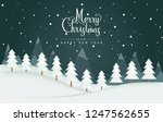 merry christmas and happy new... | Shutterstock .eps vector #1247562655