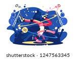 breakdancer dancing on stage... | Shutterstock .eps vector #1247563345