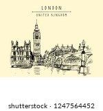 big ben  houses of parliament ...   Shutterstock .eps vector #1247564452