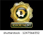 gold emblem or badge with... | Shutterstock .eps vector #1247566552