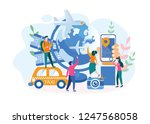 it s time to travel. booking... | Shutterstock .eps vector #1247568058