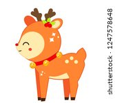cute christmas deer. winter... | Shutterstock .eps vector #1247578648