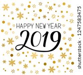 happy new year greeting card.... | Shutterstock .eps vector #1247583475