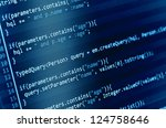 program code on a monitor | Shutterstock . vector #124758646