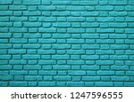 Turquoise Colored Brick Wall A...