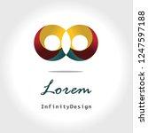 infinity design creative logo   Shutterstock .eps vector #1247597188