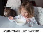 funny shaggy girl is having...   Shutterstock . vector #1247601985