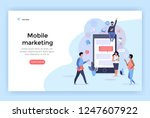 mobile marketing concept... | Shutterstock .eps vector #1247607922