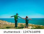 happy little boy and girl... | Shutterstock . vector #1247616898