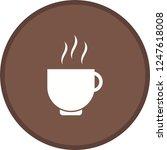 tea cup glyph round circle... | Shutterstock .eps vector #1247618008