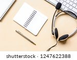 profession concept with headset ... | Shutterstock . vector #1247622388