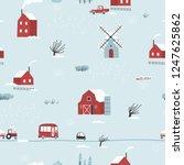 seamless winter landscape....   Shutterstock .eps vector #1247625862