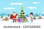christmas background. christmas ... | Shutterstock .eps vector #1247628382